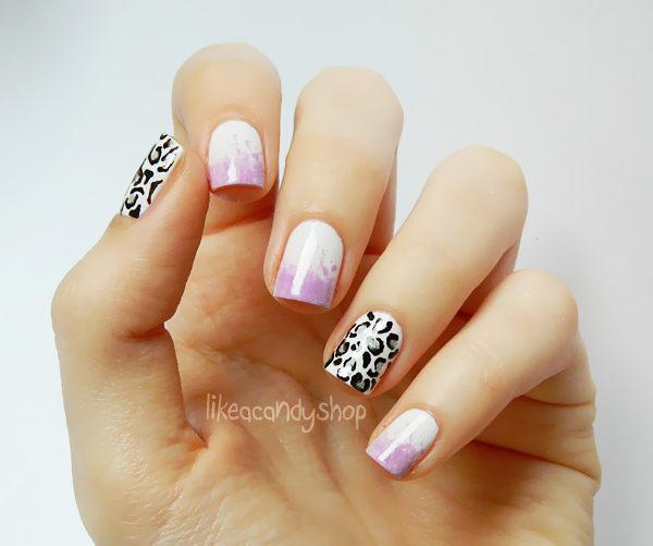 Cheetah print using the H&M nail art pen