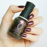 "Orly ""Space cadet"" on top of Revlon ""Bold sangria"""