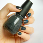 China Glaze 'Concrete catwalk' & Orly 'Sunglasses at night'