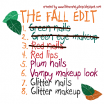 "The fall edit TAG: Ep.3 ""Red nails"""