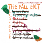 "The fall edit TAG: ep.8 ""Glitter makeup"""