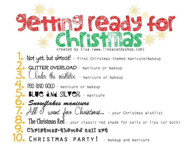 The Getting Ready for Christmas challenge! preview