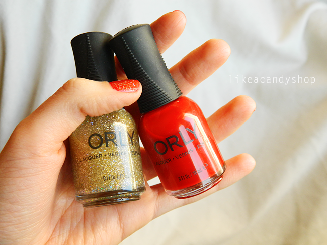 Getting ready for Christmas #4: Red and gold