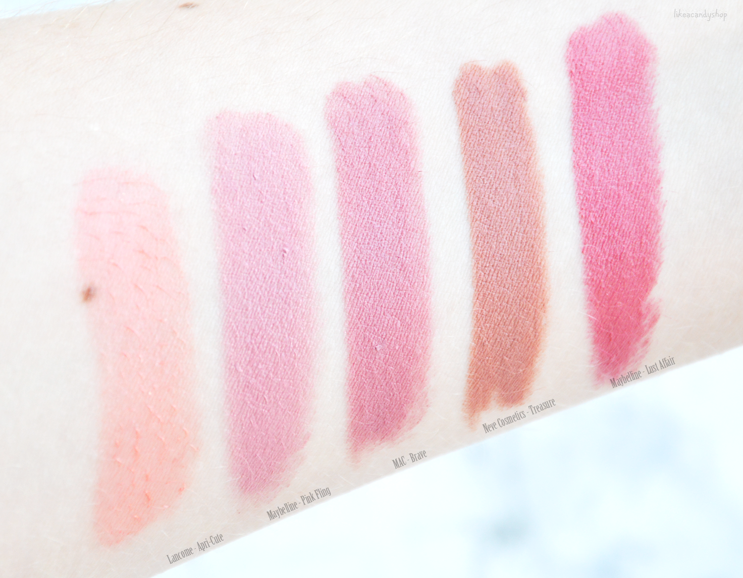 lipstick swatches