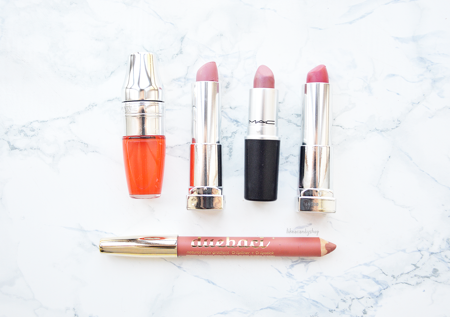 maybelline mac lancome lipsticks